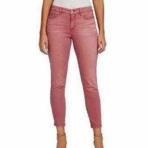 Nine West dusty pink skinny jeans women's 8